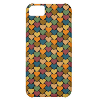 Tessellated Heart Pattern Design iPhone 5C Cases