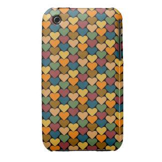 Tessellated Heart Pattern Design iPhone 3 Case-Mate Case