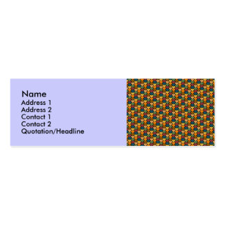 Tessellated Heart Pattern Design Double-Sided Mini Business Cards (Pack Of 20)