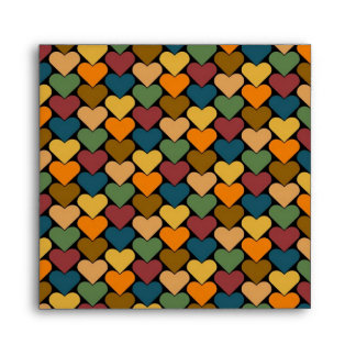 Tessellated Heart Pattern Design Envelope