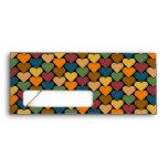 Tessellated Heart Pattern Design Envelopes