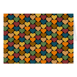 Tessellated Heart Pattern Design Greeting Card