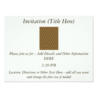 Tessellated Heart Pattern Design Custom Invitation