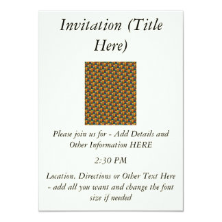 Tessellated Heart Pattern Design Custom Invitations
