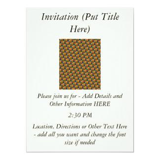 Tessellated Heart Pattern Design Personalized Invitations