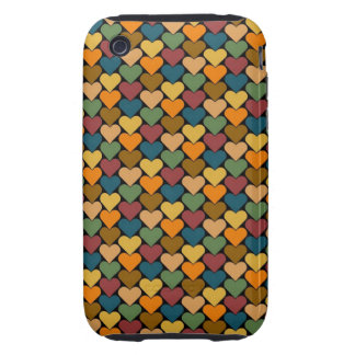 Tessellated Heart Pattern Design iPhone 3 Tough Cases