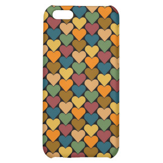 Tessellated Heart Pattern Design iPhone 5C Cover