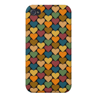 Tessellated Heart Pattern Design iPhone 4 Cases