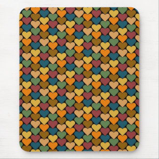 Tessellated Heart Pattern Design Mouse Pad