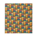 Tessellated Heart Pattern Design Notepad