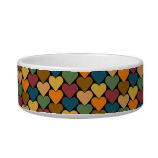 Tessellated Heart Pattern Design Pet Bowl