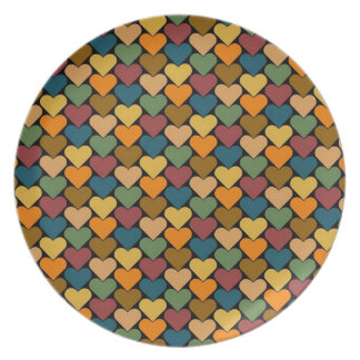 Tessellated Heart Pattern Design Plates