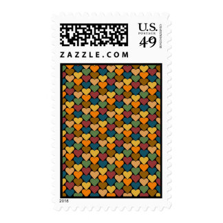 Tessellated Heart Pattern Design Postage Stamps