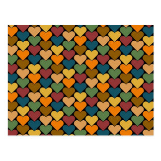Tessellated Heart Pattern Design Postcard
