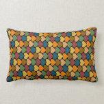 Tessellated Heart Pattern Design Throw Pillow