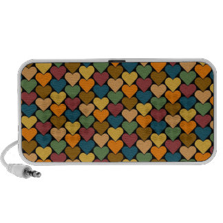 Tessellated Heart Pattern Design Travel Speakers