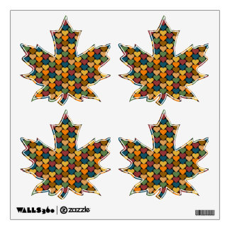 Tessellated Heart Pattern Design Wall Graphic