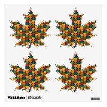 Tessellated Heart Pattern Design Wall Sticker