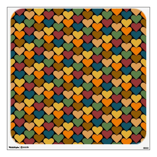 Tessellated Heart Pattern Design Wall Sticker