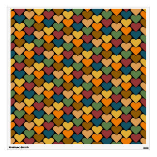 Tessellated Heart Pattern Design Room Stickers