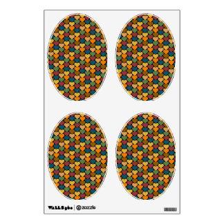 Tessellated Heart Pattern Design Wall Skin