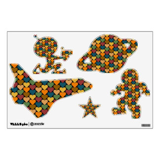 Tessellated Heart Pattern Design Wall Decals