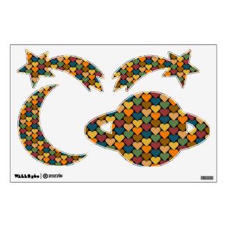 Tessellated Heart Pattern Design Room Sticker