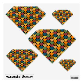 Tessellated Heart Pattern Design Room Decals