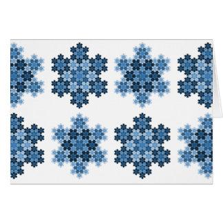 Tessellated Koch Snowflakes Card