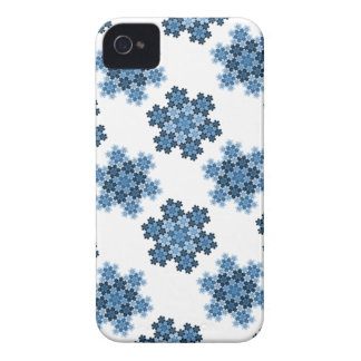 Tessellated Koch Snowflakes iPhone 4 Case