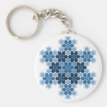 Tessellated Koch Snowflakes Basic Round Button Keychain