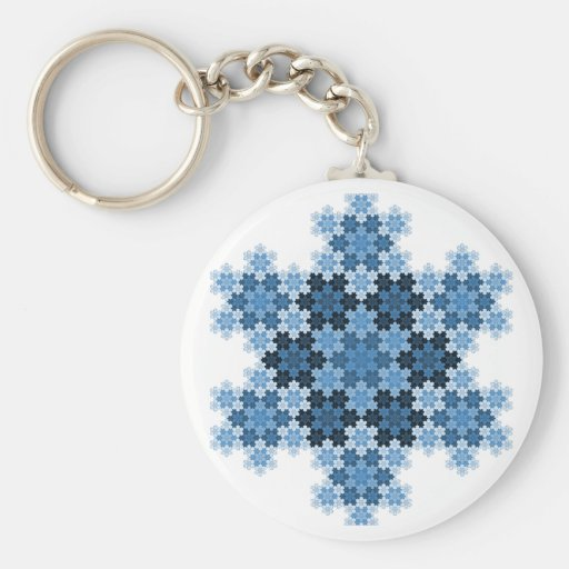 Tessellated Koch Snowflakes Keychains