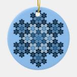 Tessellated Koch Snowflakes Ornaments