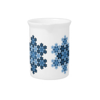 Tessellated Koch Snowflakes Pitcher