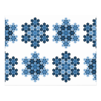 Tessellated Koch Snowflakes Postcard