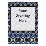 Tessellation 343 B Lg Any Color Greeting Card