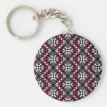 Tessellation 343 B Lg Any Color Keychain