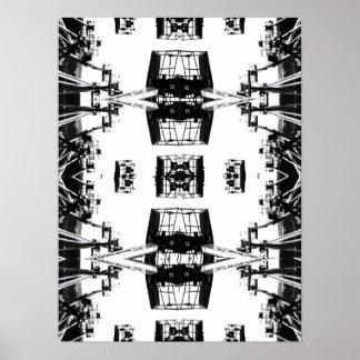 Tessellation de la grúa póster
