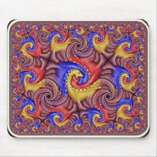 Tessellation hiperbólico del dinosaurio mouse pad