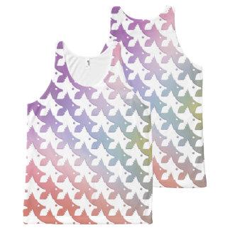 Tessellation Minimalistic White Fish All-Over-Print Tank Top