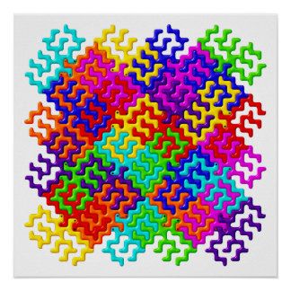 Tessellation Pattern Poster / Wall Art