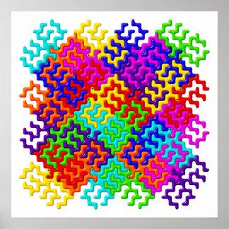 Tessellation Pattern Poster Wall Art