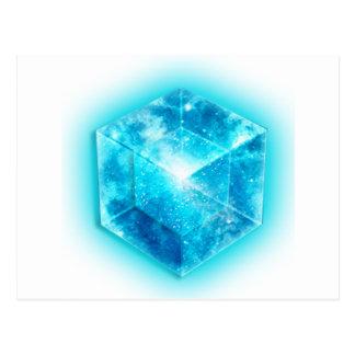 Tesseract, 4D Hypercube, hypercube Postcard