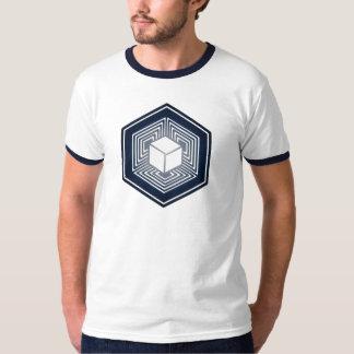 Tesseract, 4D Hypercube Hyperwürfel, Crop Circle, Poleras