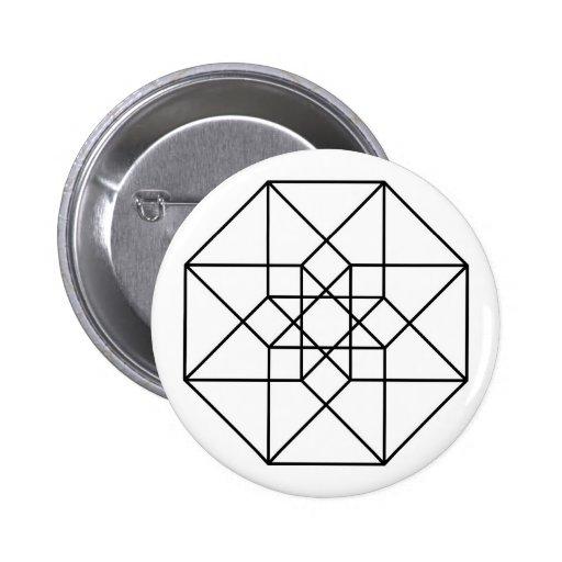Tesseract (esquema negro) pin