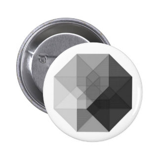 Tesseract (greyscale) pin