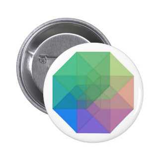 Tesseract (inverted pastel rainbow) pinback buttons