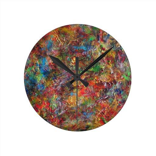 Tesseract Round Wall Clocks