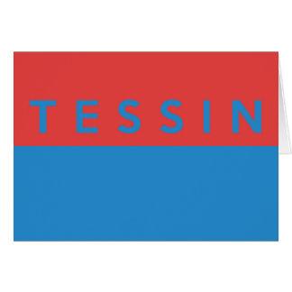 Tessin province Switzerland swiss flag region Greeting Cards