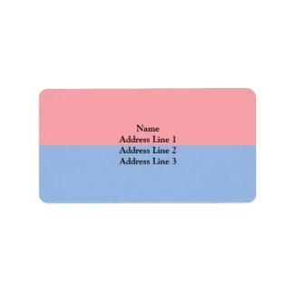 Tessin, Switzerland Address Label